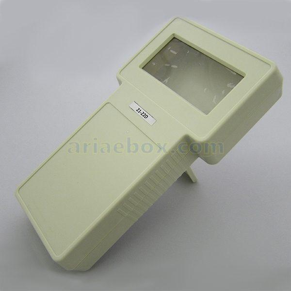 نمای سه بعدی باکس دستی کنترلی نمایشگردار 3.8 اینچ 21-22 سفید