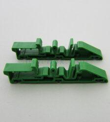 نمای سه بعدی براکت پلاستیکی ریلی نصب برد الکترونیکی DRG02