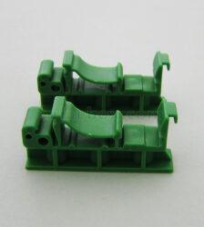 نمای سه بعدی براکت ریلی کوچک نصب برد الکترونیکی DRG01-G