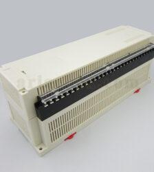 نمای سه بعدی باکس پلاستیکی کنترل صنعتی PLC ریلی ABR121-A1