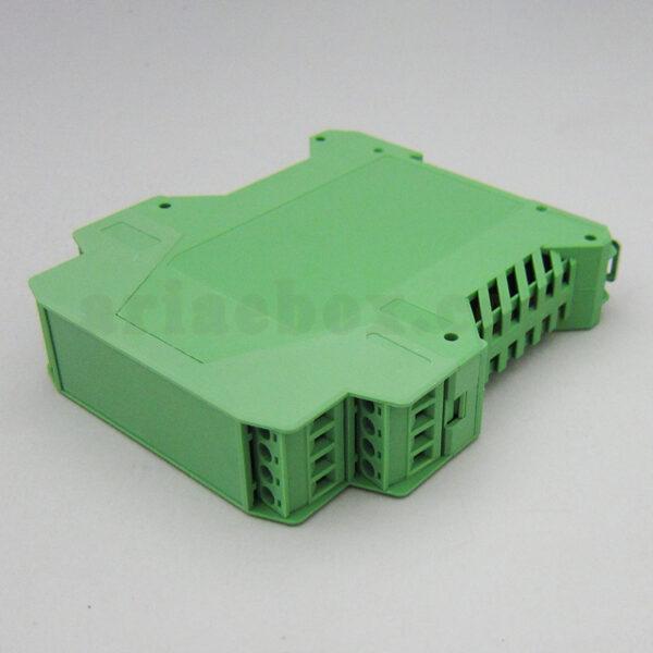 نمای سه بعدی باکس ترنسمیتر کنترل صنعتی ریلی عمودی 15-19-1-g