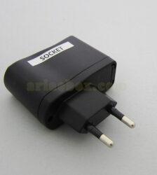 تصویر سه بعدی باکس پلاستیکی آداپتور استاندارد 6W اروپا socket m