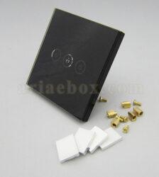 نمای سه بعدی کلید هوشمند UK سه پل مشکی S901-A2P3
