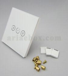 تصویر 3 بعدی کلید هوشمند EU سه پل سفید S904-A1P3