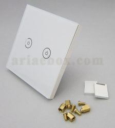 تصویر 3 بعدی کلید هوشمند UK دو پل سفید S901-A1P2
