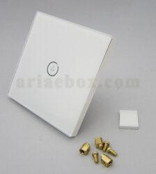 نمای سه بعدی کلید هوشمند EU تک پل سفید S904-A1P1