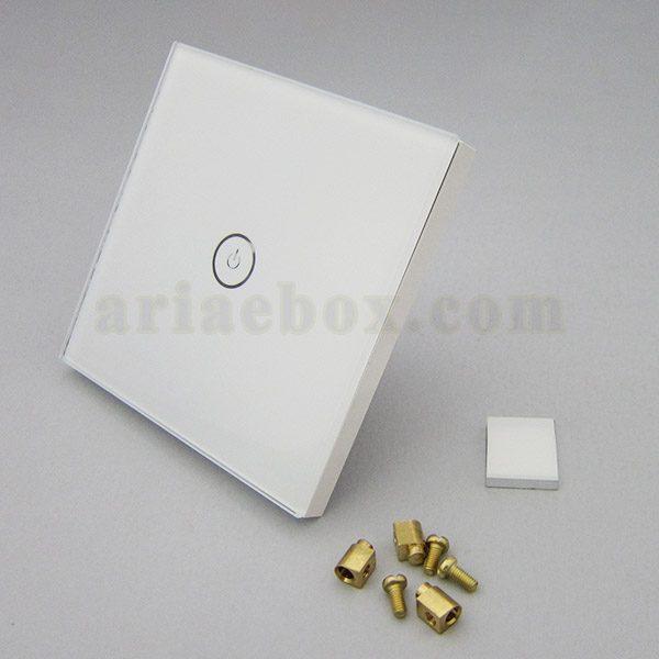 نمای سه بعدی کلید هوشمند UK تک پل سفید S901-A1P1