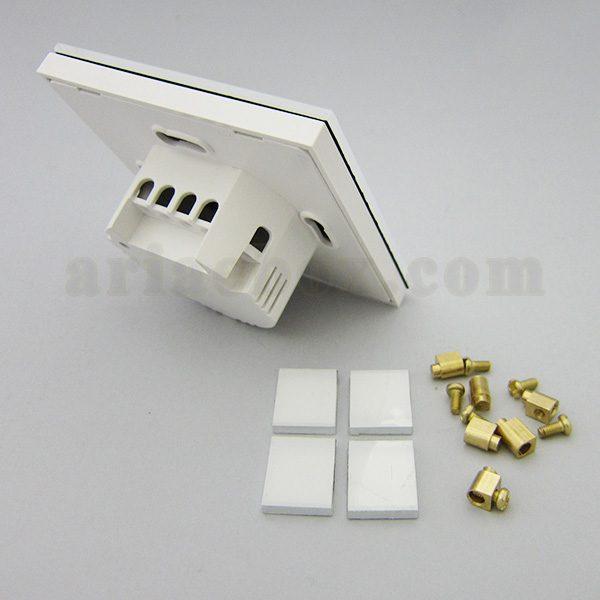 تصویر سه بعدی نمای پشت کلید لمسی S908-A1P4