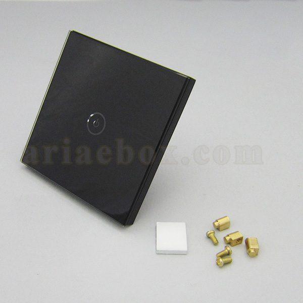 تصویر سه بعدی کلید هوشمند تک پل سفید گرد S908-A2P1