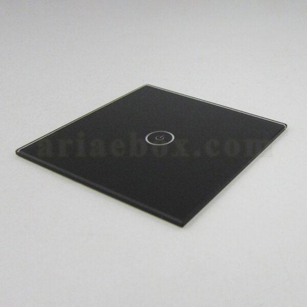 نمای سه بعدی شیشه تک پل مشکی کلید هوشمند GL3-A2P1