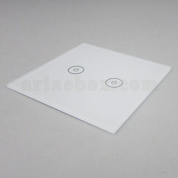 نمای سه بعدی شیشه دو پل سفید کلید هوشمند GL3-A1P2