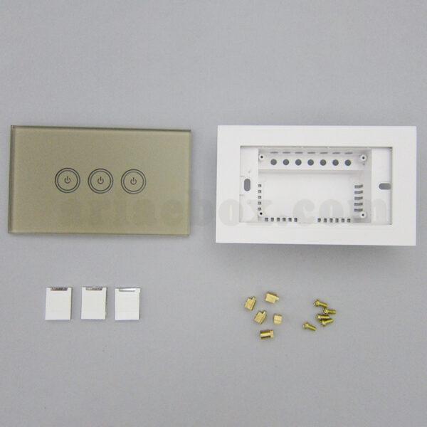 تصویر نمای روبروی کلید لمسی S903-GP3