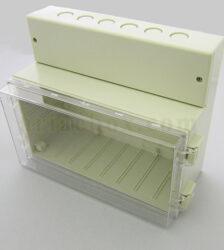 نمای سه بعدی باکس شفاف گوشواره دار ضدآب 11-24T