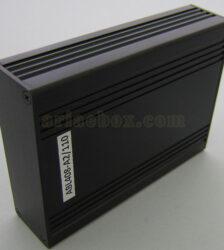نمای سه بعدی جعبه رومیزی الکترونیکی اکسترود آلومینیومی ABL408-A2/L110