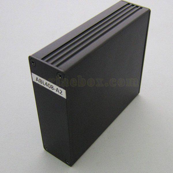 نمای جانبی جعبه الکترونیکی اکسترود آلومینیومی ABL408-A2