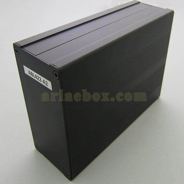 نمای سه بعدی جعبه آلومینیومی نصب PCB مدل جعبه آلومینیومی نصب PCB مدل ABL422-A2