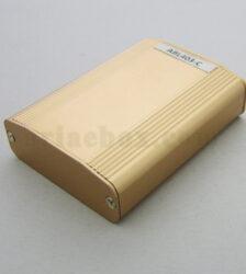 نمای سه بعدی جعبه آلومینیومی تجهیزات کنترل صنعتی بژ ABL403-C