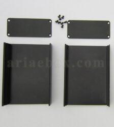 نمای داخلی جعبه رومیزی آلومینیومی برد الکترونیکی ABL412-A2