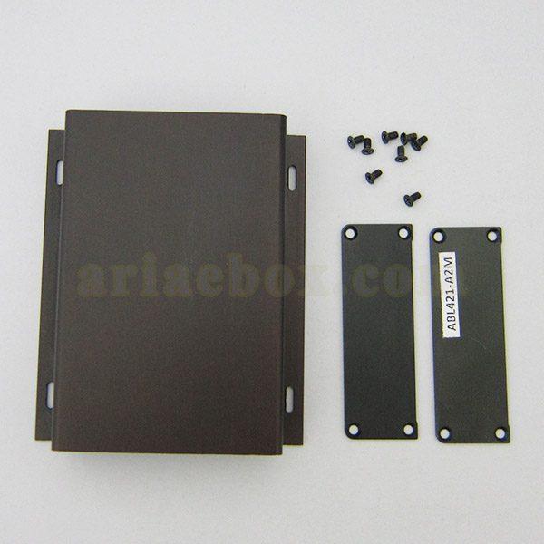 نمای روبروی جعبه آلومینیومی تجهیزات الکترونیکی abl421-a2m