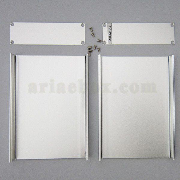 نمای داخلی جعبه رومیزی آلومینیومی مخابراتی-الکترونیکی ABL424-A1