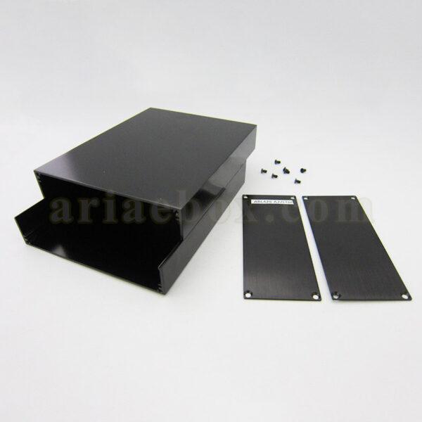 نمای داخلی جعبه رومیزی اکسترود آلومینیومی الکترونیکی ABL428-A2/L160