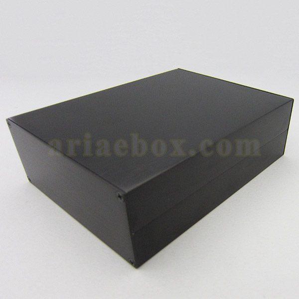 نمای سه بعدی جعبه رومیزی اکسترود آلومینیومی الکترونیکی ABL428-A2/L160