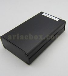 نمای سه بعدی جعبه پروفیل آلومینیومی الکترونیکی مشکی ABL401-A2