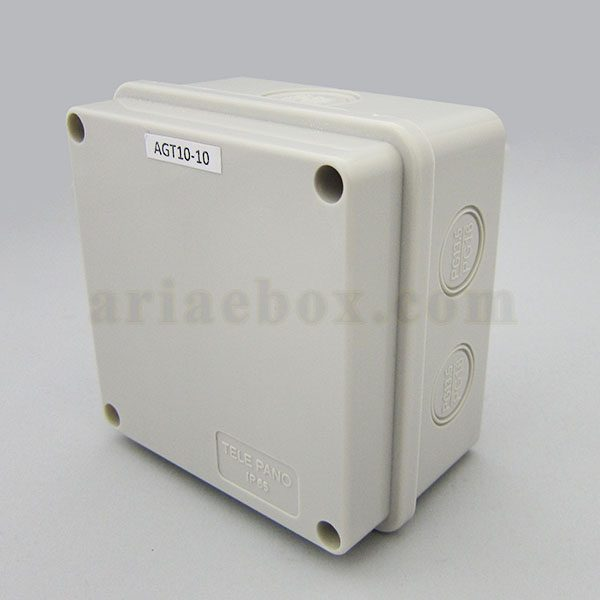 نمای سه بعدی جعبه تقسیم ضدآب تجهیزات الکترونیکی AGT10-10