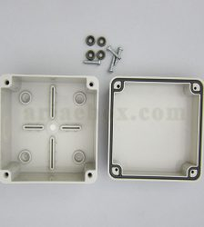 نمای داخلی جعبه تقسیم ضدآب تجهیزات الکترونیکی AGT10-10
