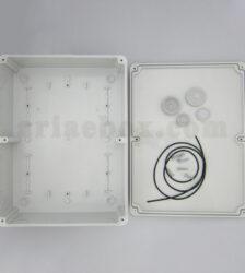 نمای داخلی جعبه تقسیم ضدآب الکترونیکی 14 سوراخ AGT 28-21