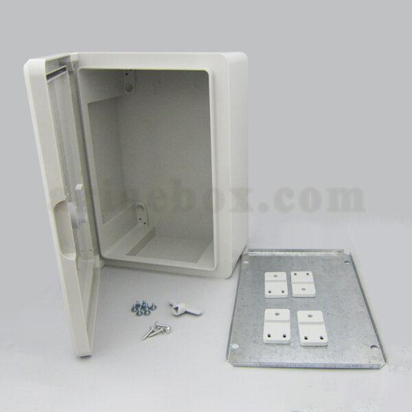 نمای باز جعبه ضدآب تابلویی قفل دار TW702-A1