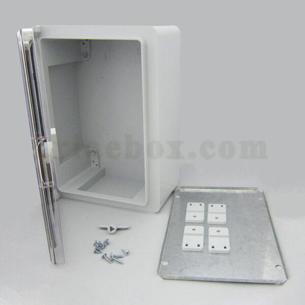 نمای باز جعبه ضدآب تابلویی قفل دار شفاف TW702-A1T