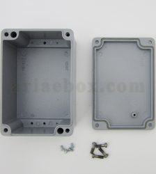 نمای داخلی جعبه ضدآب الکترونیکی فلزی آلومینیومی AW601-A1