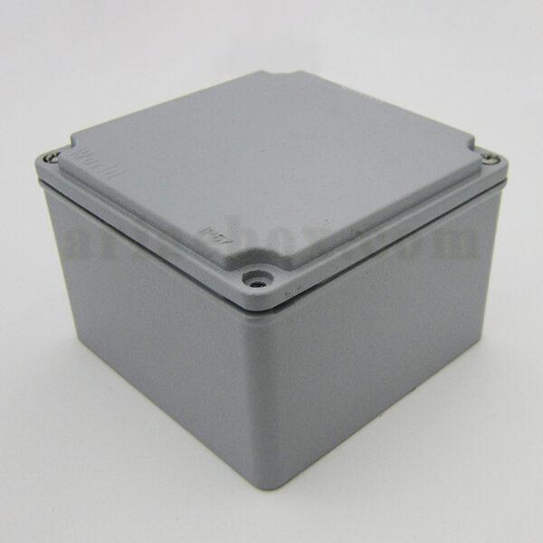 نمای سه بعدی جعبه ضدآب آلومینیومی تجهیزات الکترونیکی AW602-A1