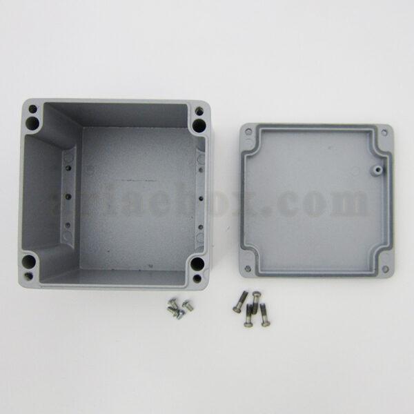 نمای داخلی جعبه ضدآب آلومینیومی تجهیزات الکترونیکی AW602-A1
