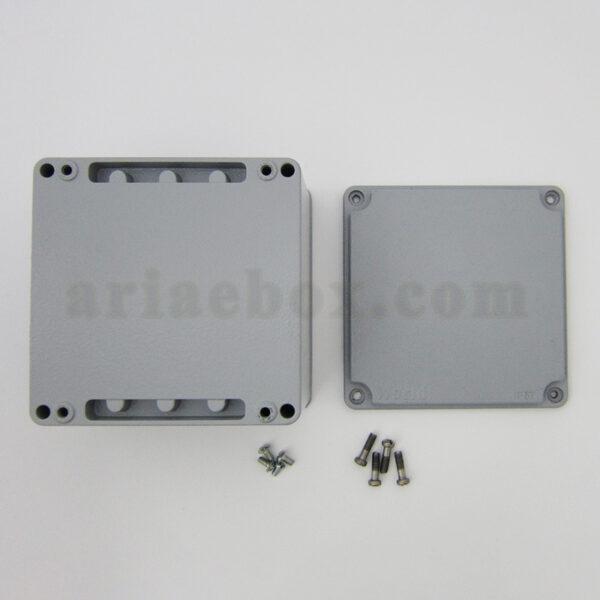 نمای بیرونی جعبه ضدآب آلومینیومی تجهیزات الکترونیکی AW602-A1
