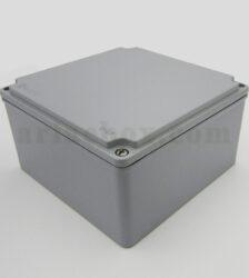 نمای سه بعدی جعبه ضدآب فلزی آلومینیومی مربعی AW603-A1