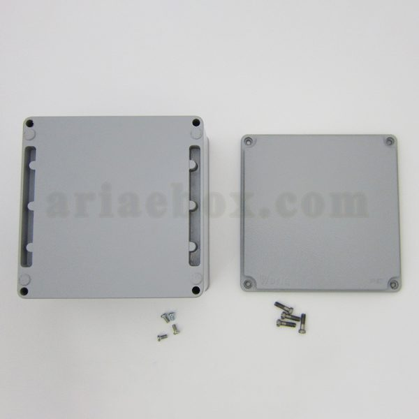 نمای بیرونی جعبه ضدآب فلزی آلومینیومی مربعی AW603-A1