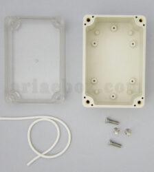 نمای داخلی جعبه رومیزی ضدآب پلاستیکی شفاف ABW202-A1T