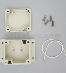 نمای داخلی جعبه کوچک دیواری ضدآب تجهیزات الکترونیکی ABW225-A1M