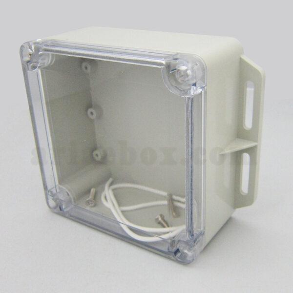 نمای سه بعدی جعبه ضدآب شفاف منبع تغذیه الکترونیکی ABW231-A1TM