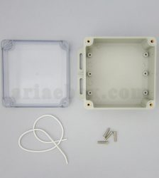 نمای داخلی جعبه ضدآب شفاف منبع تغذیه الکترونیکی ABW231-A1TM