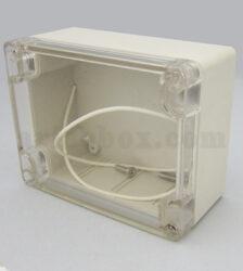 نمای سه بعدی جعبه ضدآب شفاف تجهیزات الکترونیکی ABW203-A1T