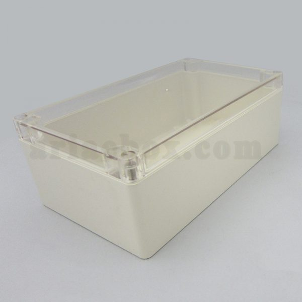 نمای سه بعدی جعبه ضدآب شفاف اتصالات، منبع تغذیه ABW211-A1T