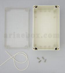 نمای داخلی جعبه ضدآب شفاف اتصالات، منبع تغذیه ABW211-A1T