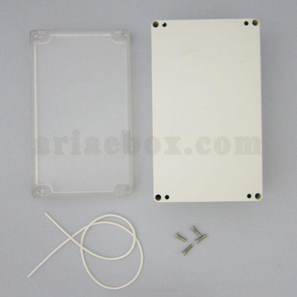نمای بیرونی جعبه ضدآب شفاف اتصالات، منبع تغذیه ABW211-A1T