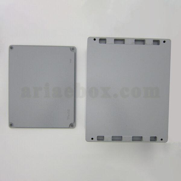نمای بیرونی جعبه ضدآب آلومینیومی اتصالات الکترونیکی aw606-a1