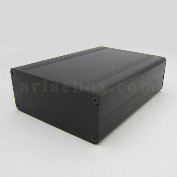 نمای سه بعدی جعبه رومیزی آلومینیومی برد الکترونیکی ABL412-A2
