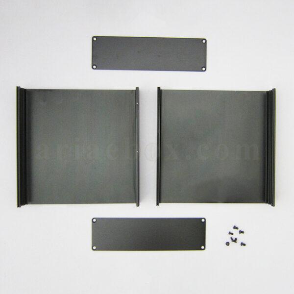 نمای باز جعبه آلومینیومی ابزار الکترونیکی abl437-a2