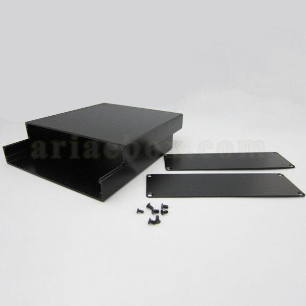 نمای داخلی جعبه آلومینیومی ابزار الکترونیکی abl437-a2